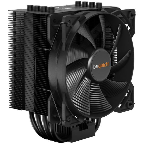 be quiet! PURE ROCK 2 BLACK, Intel: 1200/ 2066/ 1150/ 1151/ 1155/ 2011(-3) square ILM, AMD: AM4 / AM3(+), TDP (W) – 150, 1x Pure Wings 2 PWM, dimensions without mounting material (L x W x H), (mm): 87 x 121 x 155, 3Y warranty