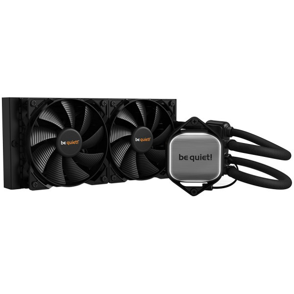 be quiet! Pure Loop 240mm, Intel 1200 / 2066 / 1150 / 1151 / 1155 / 2011(-3) square ILM; AMD: AM4 / AM3(+), 2x Pure Wings 2 120mm PWM high-speed, White LED illumination, 3 years, warranty